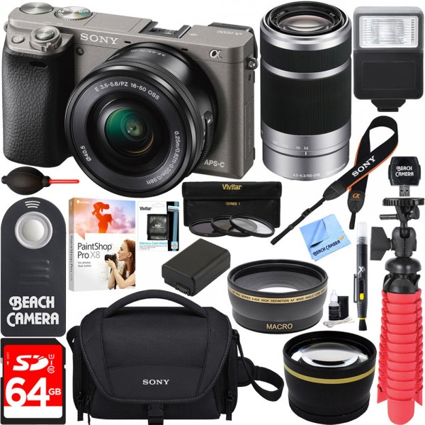 ... Câmera Sony Alpha A6000 Kit 16-50mm lente zoom 55-210mm 64GB ... 90983cd85e